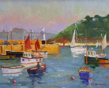 Eric Ward Original Oil Painting St Ives Harbour Cornwall